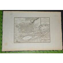 Antique 1800 Map of Cairo Egypt 11x16 Inches