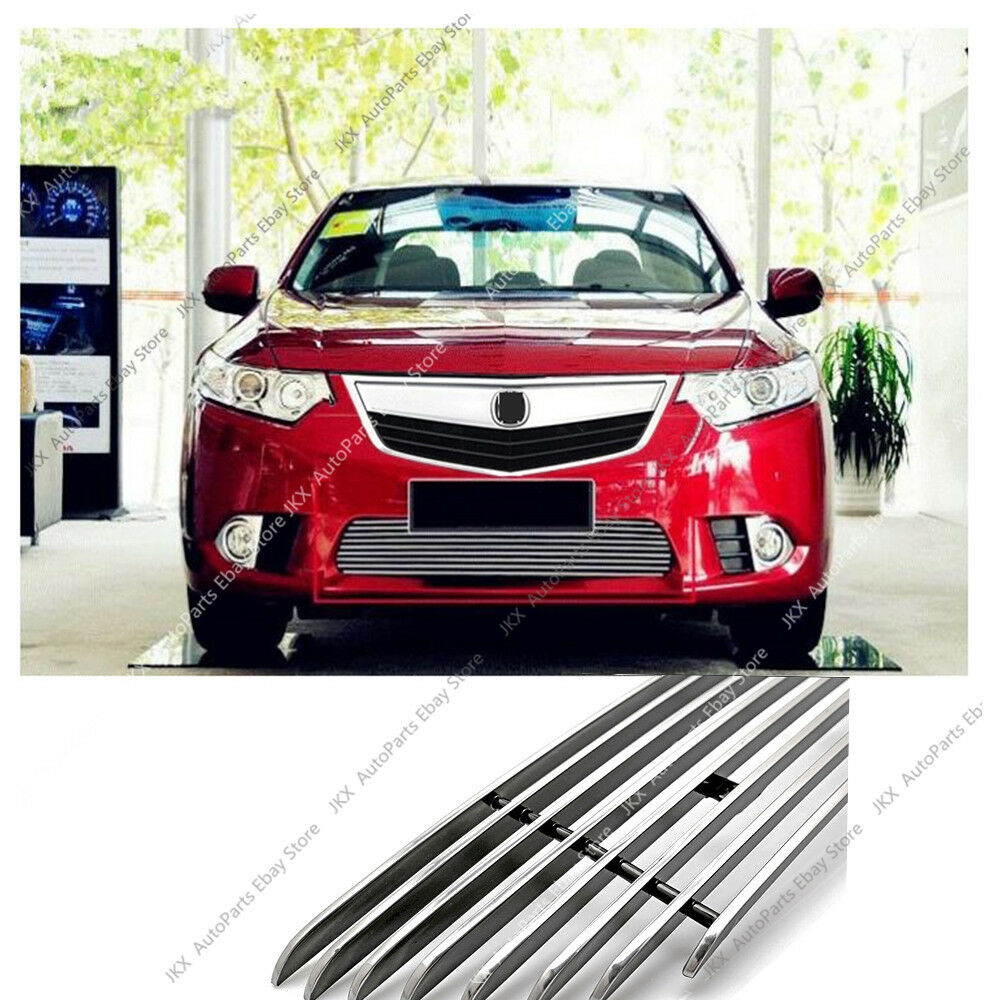 Stainless Front Bumper Loewr Grille Grill Trim K For Honda