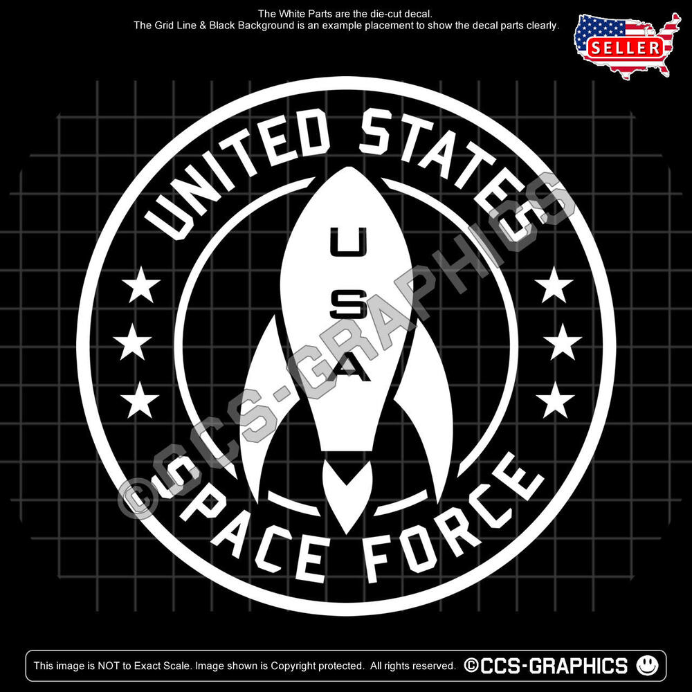 Details about u s space force decal 4 sizes car window sticker sign maga 2020 kag train