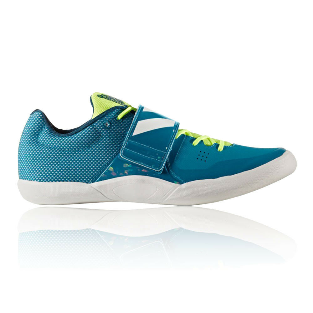 604880e029df Details about Adidas Adizero Discus Hammer Mens Blue Track Field Shoes  Trainers Pumps