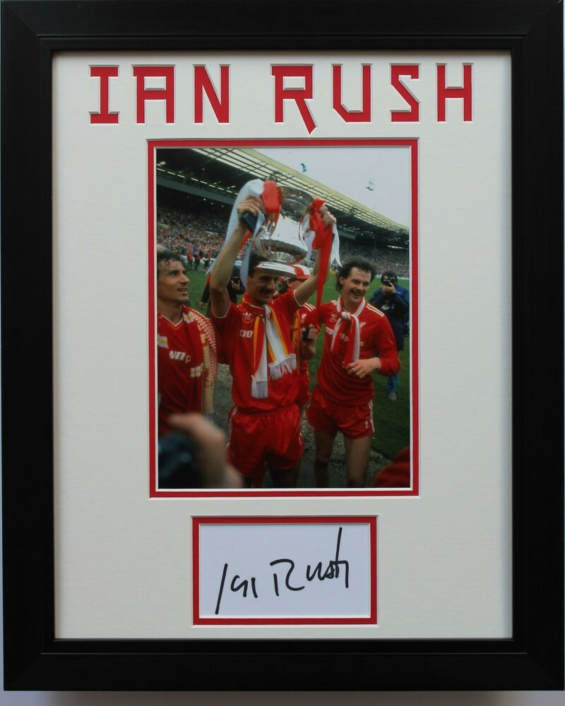 094328b23 Details about FRAMED Ian Rush In Liverpool Shirt HAND SIGNED Autograph  Photo Mount Display COA
