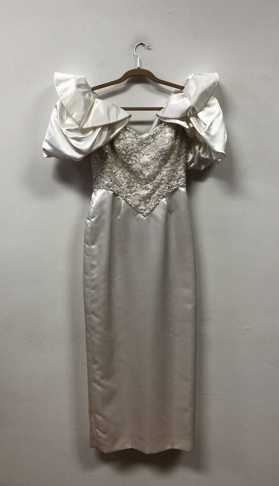 VTG 1980s ROSE TAFT Couture MOB Gown Evening Dress, Wedding, WOW! | eBay