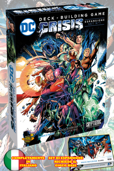 Cryptozoic DC Comics Deck Building Game Crisis Expansion Pack 1 Italiano