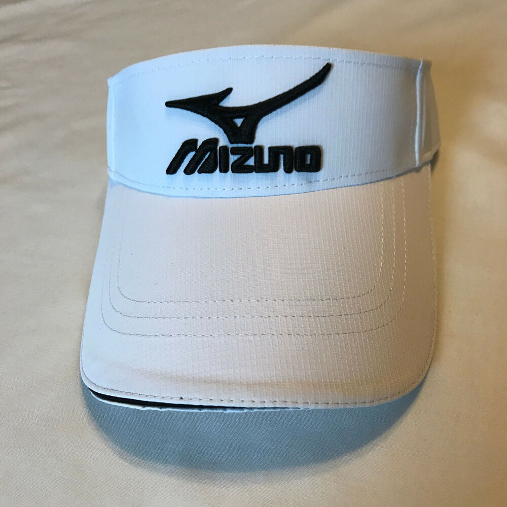 Details about NEW 2018 Mizuno Golf Visor Adjustable One size fit all White 11c463e33e4