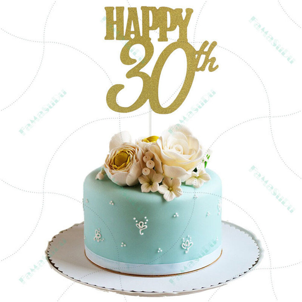 Happy 30th Cake Toppers Anniversary Party Supplies