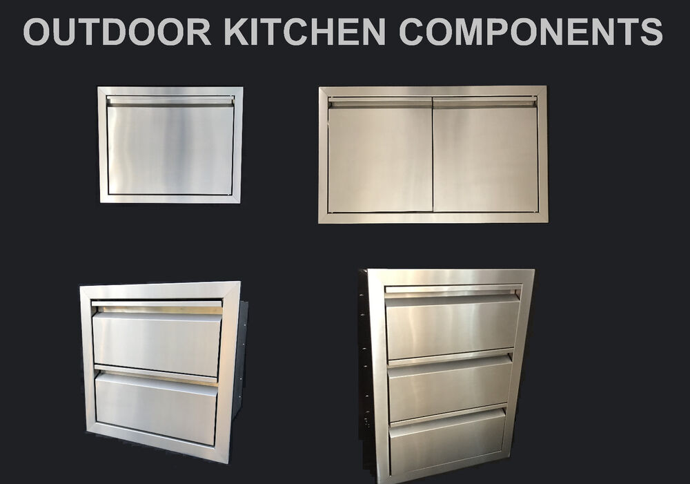 Outdoor Kitchen Bbq Island Components 304 Stainless Steel