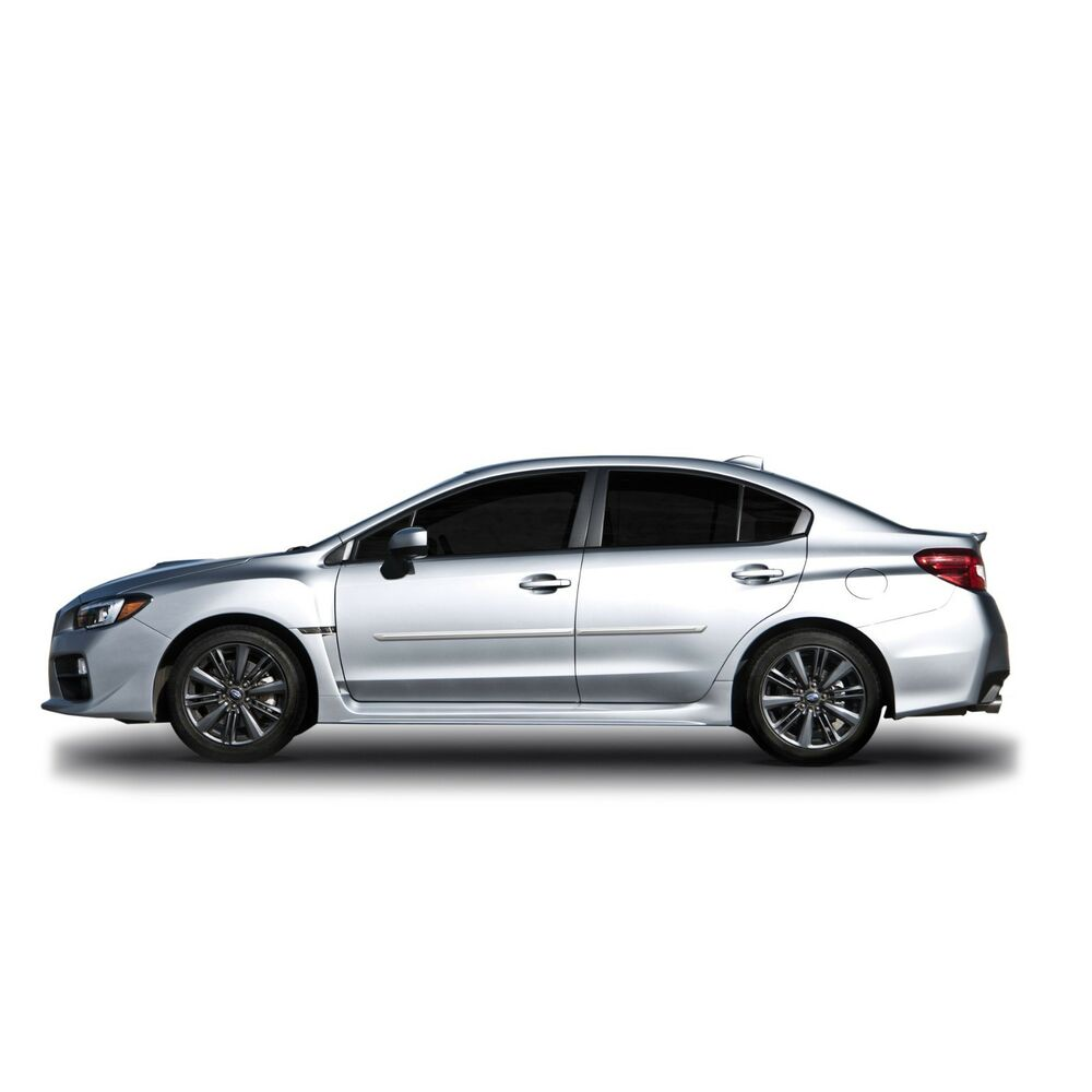Painted Body Side Moldings With Chrome Trim Insert For Subaru Wrx
