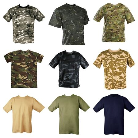 img-Mens Military Camouflage Camo T Shirt Army Combat Hunting Top Desert MTP DPM UK