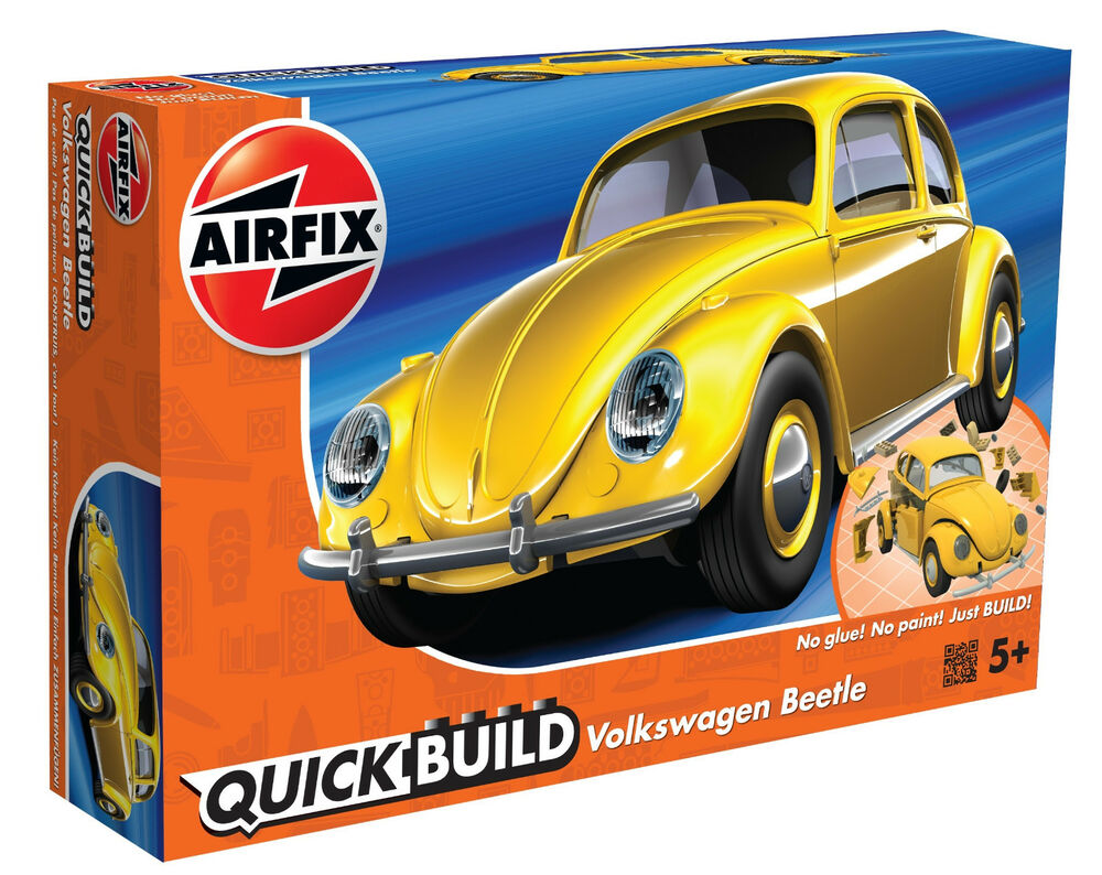 Details About Airfix Quick Build Yellow Volkswagen Vw Beetle Plastic Model Kit J6023