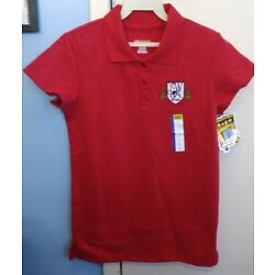 Sunshine School Fashions Red Girl's Youth Large Polo YCWLA NWT