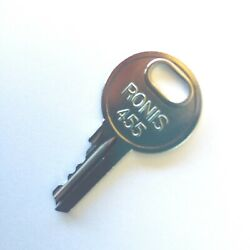 Ronis 455 Ignition Key for Manlifts fits Snorkel Genie & More