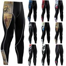 Men's Compression Under Long Pants Base Layer Running Sports Tights Fitness