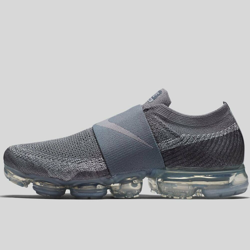 aad64a030df Details about Nike Air Vapormax Flyknit Moc Triple Grey Size 8.5.  AH3397-006 Max
