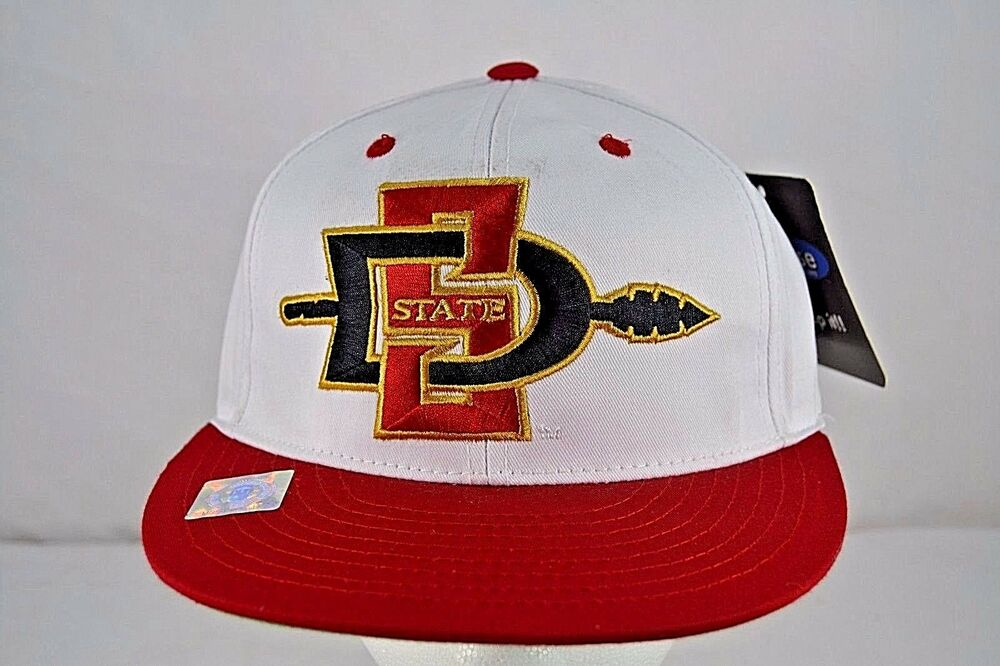 4dec5eb56305f Details about San Diego State University Aztecs Red White Baseball Cap  Snapback