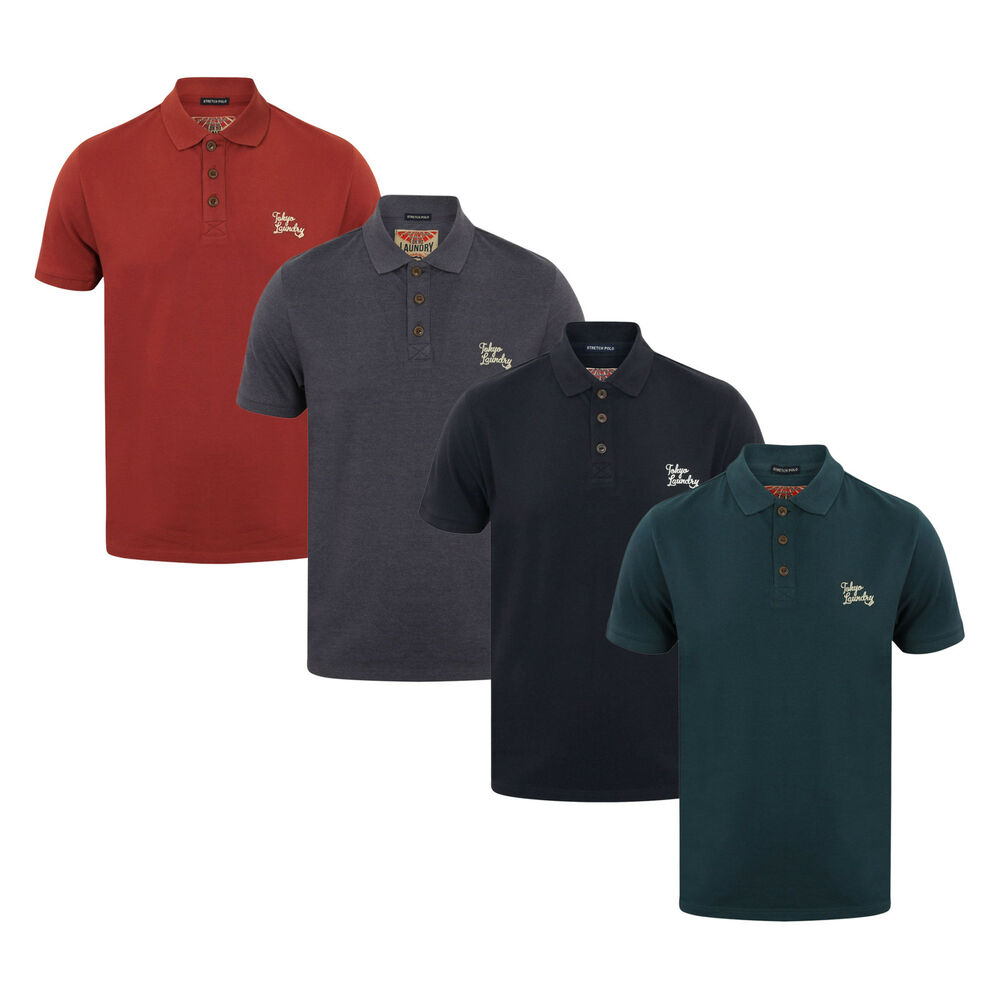 4319f73a Details about Men's Tokyo Laundry Short Sleeve Cotton Polo Shirt New Size  S-XL