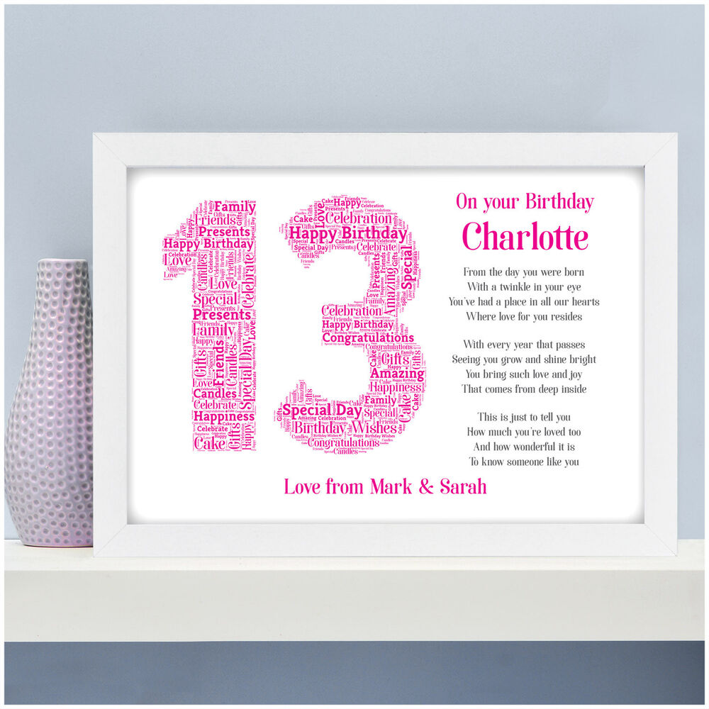 Details About Personalised 13th 16th 18th 21st Birthday Gifts For Her Daughter Sister Girls