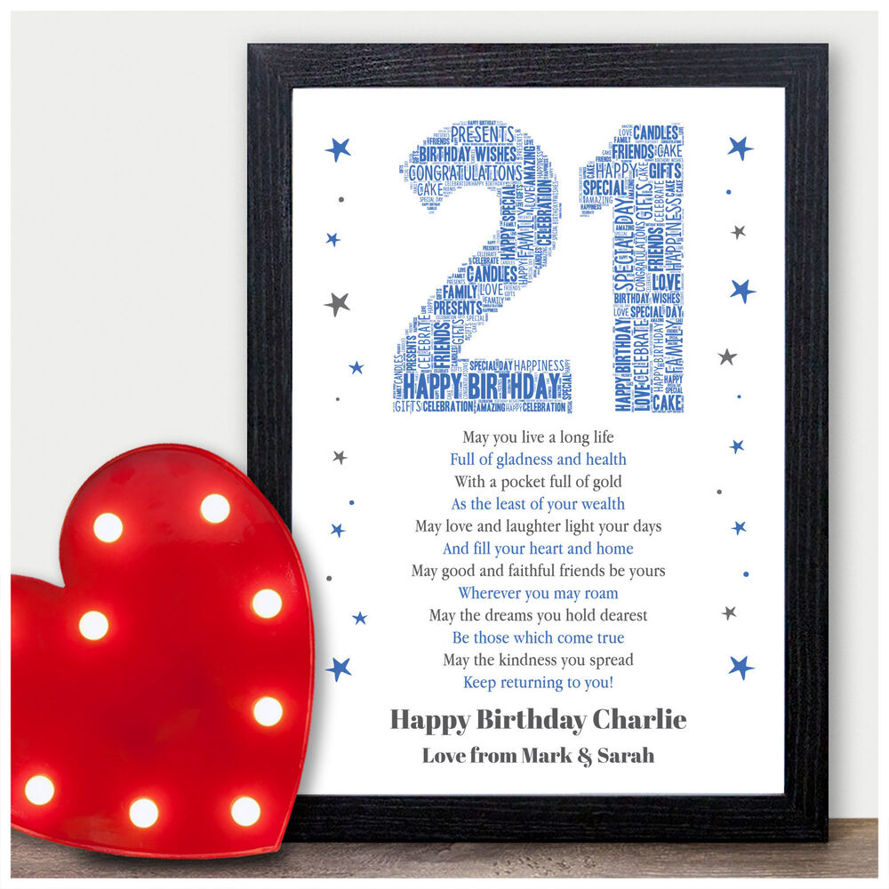 Details About Personalised 21st Birthday Gifts For Him 16th 18th Son Male Men