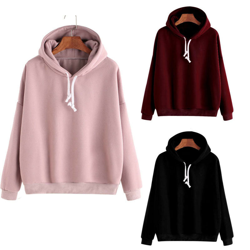 Details about Men Women Pullover Hoodie Unisex Hip-hop Solid Color Plain  Sweatshirt Teenager 9d445a393d