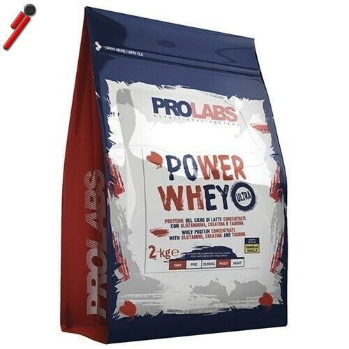 Prolabs Power Whey Ultra, 2000 g (2 Kg) Proteine siero di latte con creatina