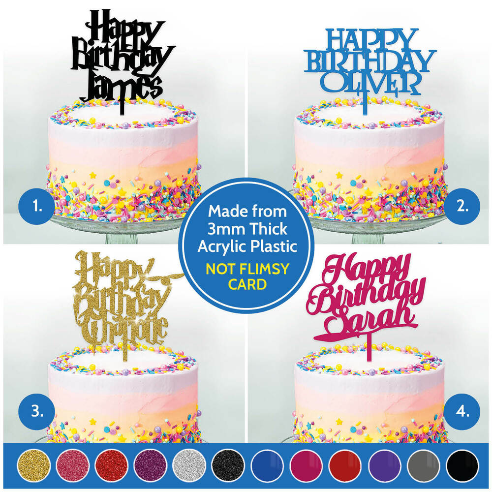 Details About PERSONALISED Harry Potter Cake Toppers Custom Kids Happy Birthday