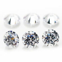 100/200/1000Pcs Cubic Zirconia Bead Gemstone Loose Round Shape Craft Jewelry DIY