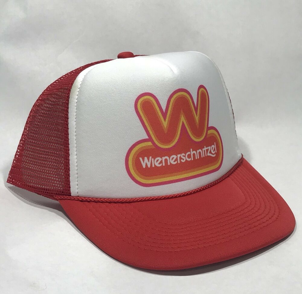 Details about Wienerschnitzel Hot Dog Trucker Hat Vintage 80 s Snapback  Employee Cap Red 335bd3ba1e94