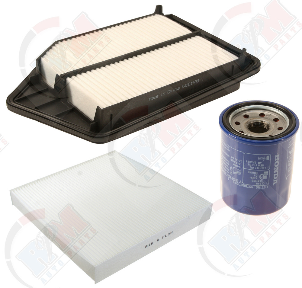 GENUINE Oil Filter 15400PLM-A02 + Air & Cabin Filter For