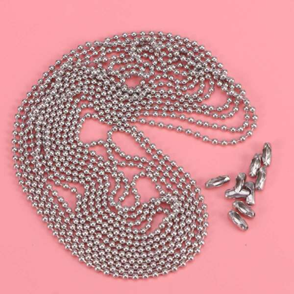 Wholesale Silver 2.4mm/3.2mm Bead Ball Chain Necklace 3M New