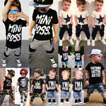 Canis Kids Baby Boys Camo Denim Outfits Tops T-shirt Pants Shorts Clothes Set