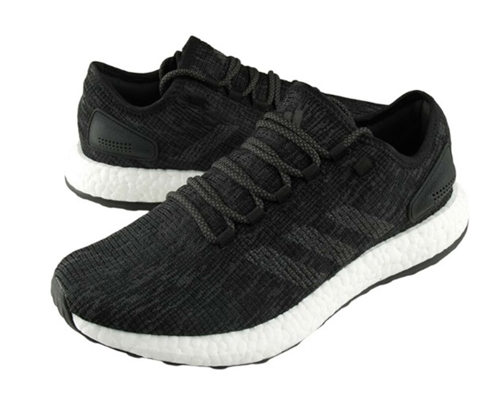 dc43d4824 Details about Adidas Men Pure Boost Training Shoes Black White Running  Sneakers Shoe CP9326