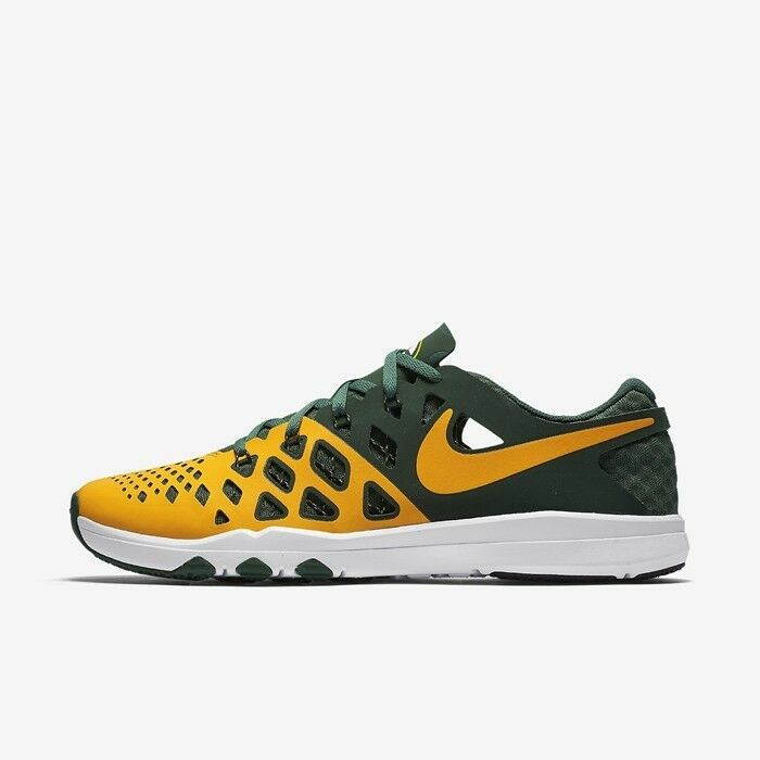 e7873aae0ffd Details about NEW NIKE TRAIN SPEED 4 AMP NFL GREEN BAY PACKERS GREEN GOLD  SZ 9.5 (848587 706)