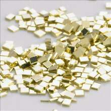 100 of New Solid 14k White Gold solder chips jewelry repair  melt @ 1340° Easy