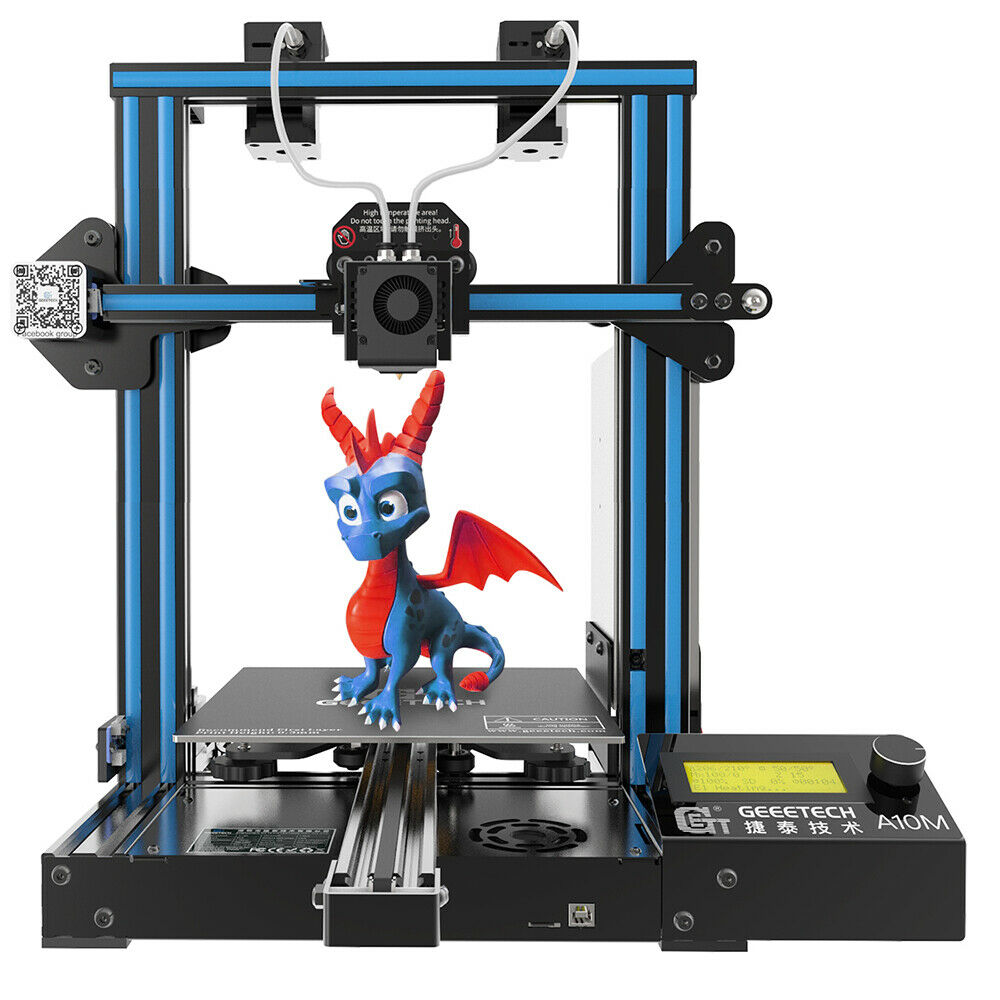 Geeetech Dual Extruder 3D Printer A10M 2 In1 Out 360° View