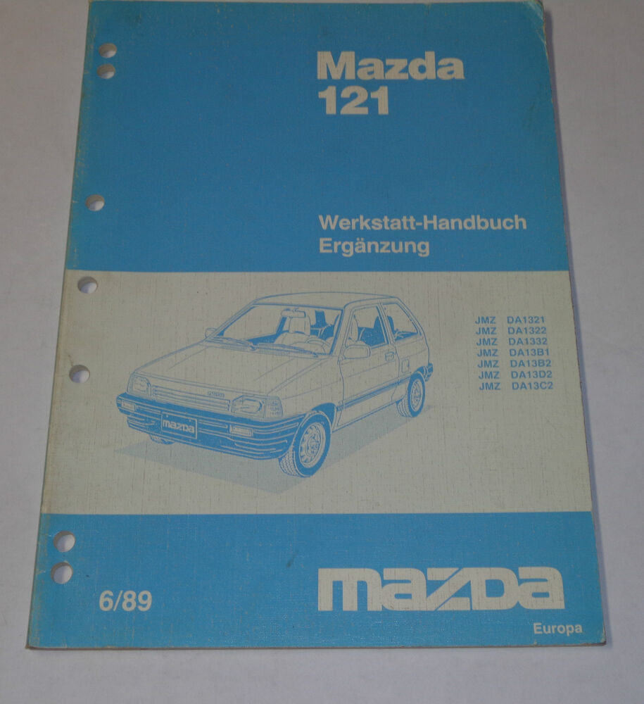 Workshop Manual Mazda 121 Body  Electricity  Stand 06  1989