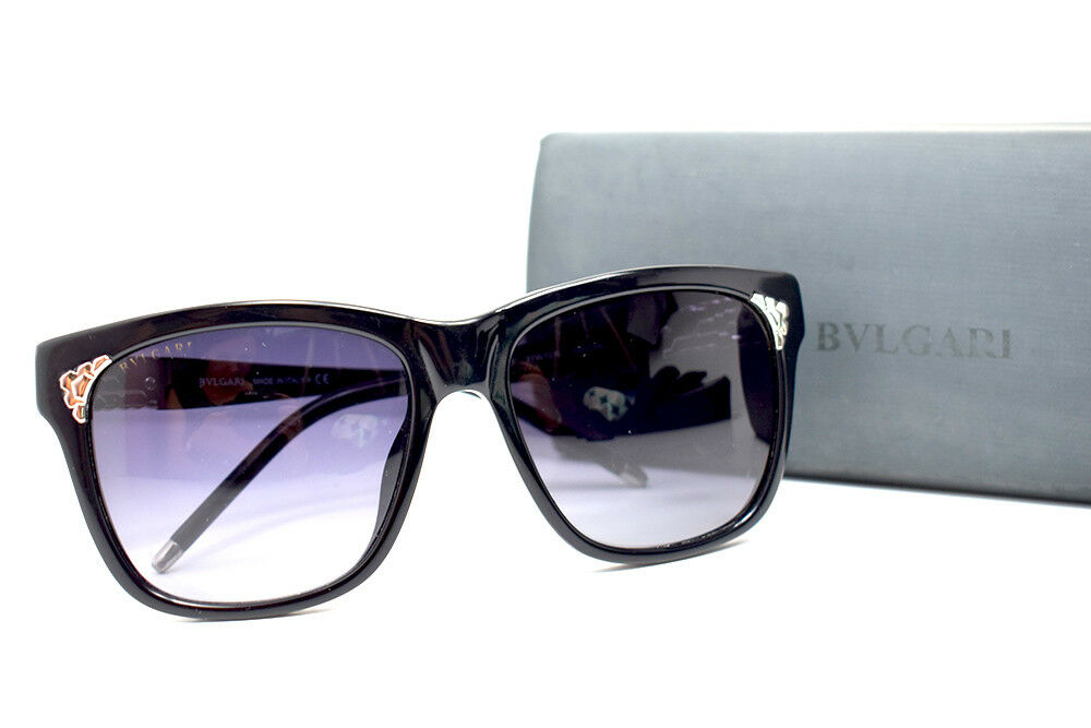eeb9f9ee6f8b24 Details about Authentic BVLGARI BV8134 Sunglasses Black Frame Grey Gradient  Lenses