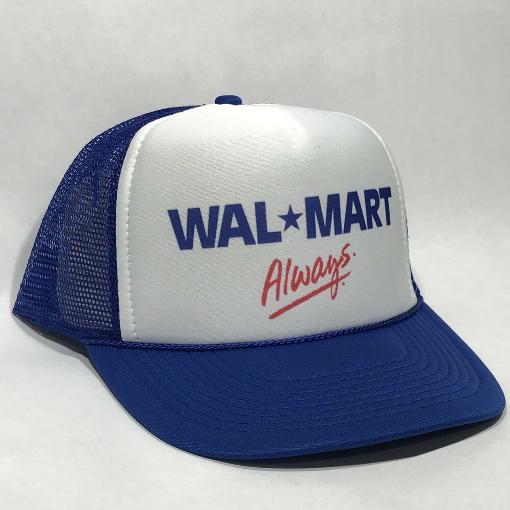 size 40 3bb79 27f8a Details about Wal-Mart Always Employee Trucker Hat Vintage Retro Blue    White Cap