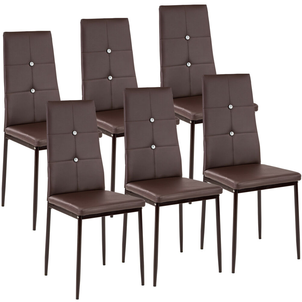 6 Modern Dining Chairs Dining Room Chair Table Faux