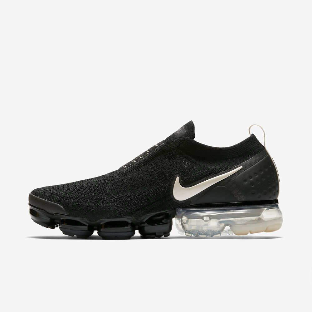 34c66997b9c Details about NIKE AIR VAPORMAX FLYKNIT MOC 2 AH7006-002 BLACK WHITE  THUNDER GREY LIGHT CREAM