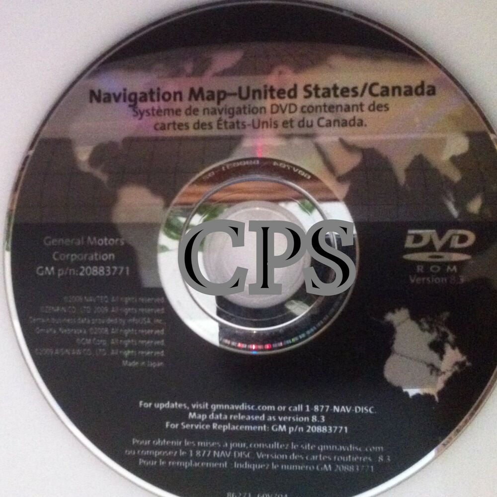 2012 Chevrolet Traverse Interior: 2008- 08 07 CHEVROLET TRAVERSE LT LS NAVIGATION MAP DISC