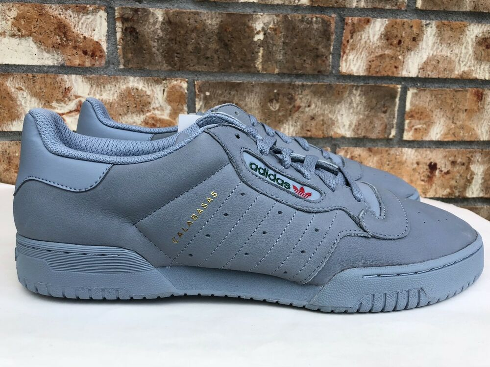 8e4aeb6f0bf2 Details about Men s Adidas Originals Yeezy Powerphase Calabasas Grey  Leather Size 13 CG6422