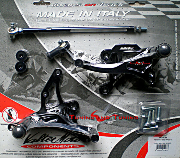 PEDANE VALTERMOTO TIPO 1 PER TRIUMPH SPEED TRIPLE 1050 2008 2009 2010  (PET01)