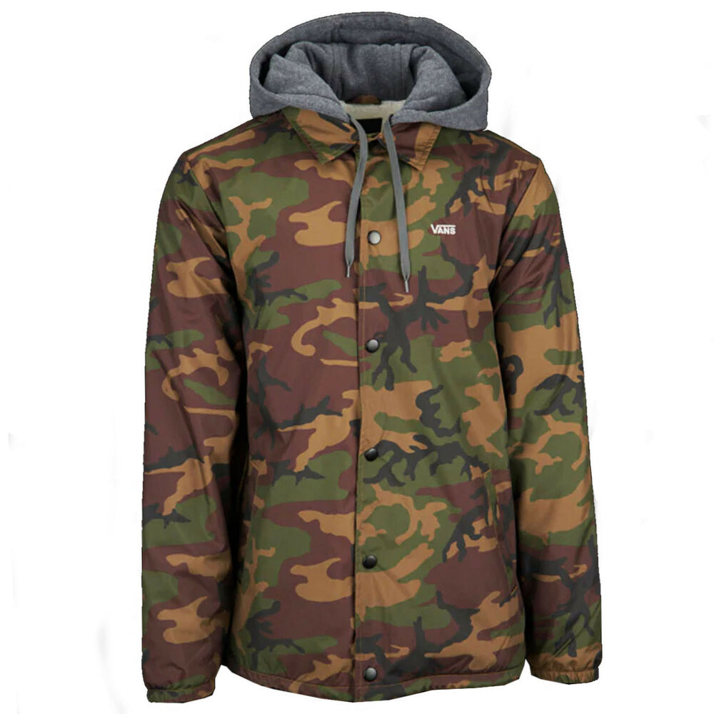 42642b0e9b2 Details about VANS Mens RILEY COACH JACKET Camo