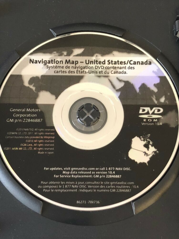 🇺🇸GM North America Navigation LATEST DVD Map GPS Update Part ...