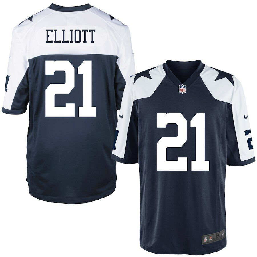 cheap for discount 55b3a 06ab2 Ezekiel Elliott Dallas Cowboys Nike YOUTH Throwback NFL Jersey- Navy | eBay
