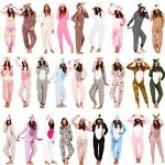 Ladies/Womens/Girls Fleece All In One Pyjamas Outfit Costume Hood Size 6-22