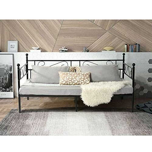 Single Sofa Bed 2 Seater Metal Lounge Couch Modern Small Guest