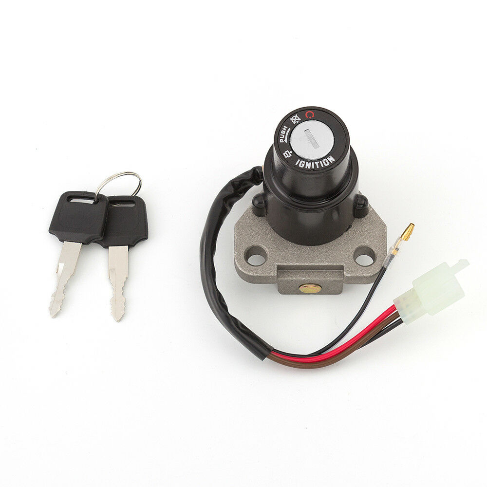Ignition Switch Lock Key For Yamaha Dt 125 R Tzr 250 Xt 350 600 W Vmax Wiring Keys 3 Pin Ebay
