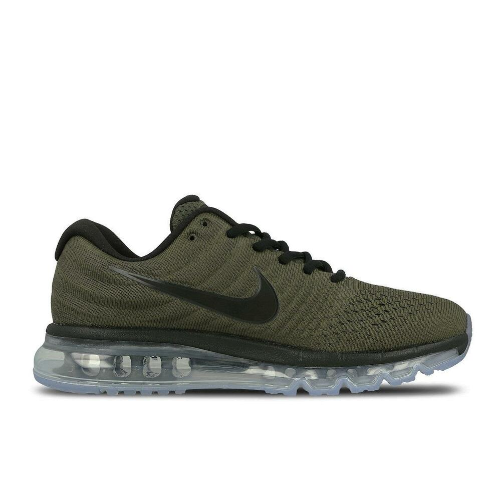 b0957bf26 Details about Mens NIKE AIR MAX 2017 Cargo Khaki Running Trainers 849559 302