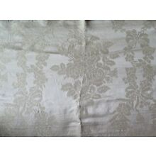 Antique 1900 French Lyon Silk Sample Fabric~Rose & Bow Frame~L-24