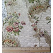 Lovely Antique French c1780 18thC Silk Floral Brocade Fabric~L-19